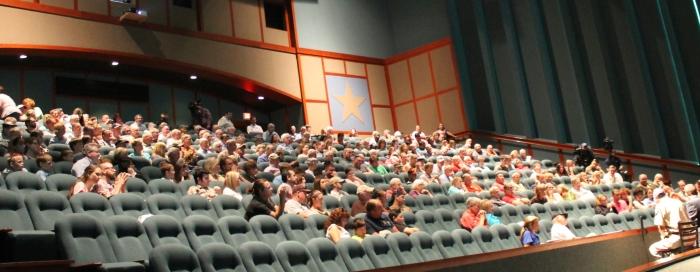 The Imax theater was pretty full.