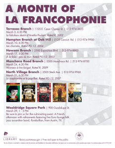 a month of la francophonie